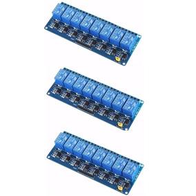 Kit Com 3 Unds Modulo Relé 8 Canais 5v Shield Uno Mega Pic