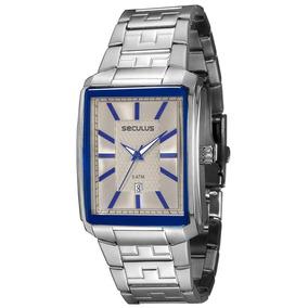 c6086f903b1 Relógio Masculino Analógico Seculus Original Cromado - Relógios De ...