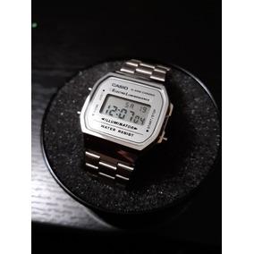 Reloj Casio Plateado Con Gris (espejo)
