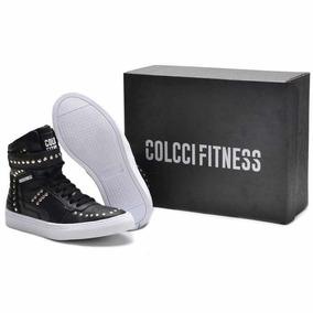 Tênis Sneaker Colcci Fitness- Botinha Couro Treino Hardcore