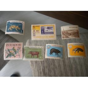 Lote Com 7 Selos Antigos Equador