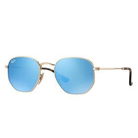 a90cfcd0eb910 Rayban Hexagonal Azul Espelhado - Óculos no Mercado Livre Brasil