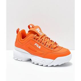 Tenis Casuales De Mujer Fila Disruptor Ii Premium Naranjas