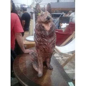 Perro Ovejero Ceramica Tamaño Natural Subasta (el Pasado)