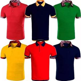 Kit 5 Camisas Polo Masculina Blusa Camiseta De Luxo Atacado. R  105 53f2f8c2de5c2