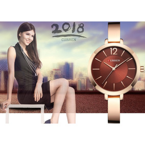 Relógio Curren 9012 Feminino Quartzo Luxo Elegante