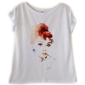 b2f7bd4861 Camiseta Feminina Retro Estilosa Blusa Feminina Roupas