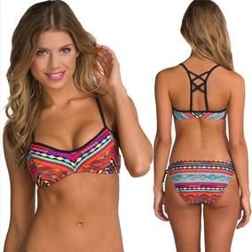 Sexy Conjunto Bikini Brasileño Traje De Baño Con Estampado
