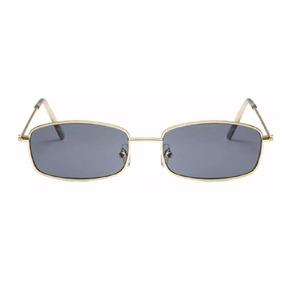 16311c798f575 Óculos De Sol Retrô Fino Retangular Vintage Proteção Uv400 · R  120