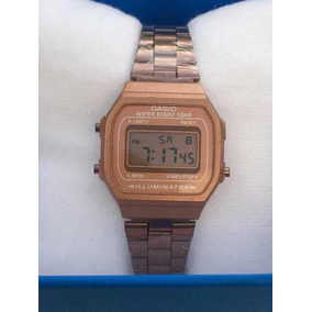 Reloj Casio Mini Rosa Mate A168 Rose Gold Dama