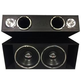 Caixa Box Trio Evo 550 1550w Rms Trio Som Automotivo