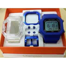a126c4e9b64 Relógio Champion Yot Fd Azul Cp40180x Original Kit Promoção