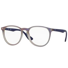 0f8a1a4d6756a Óculos De Grau Ray Ban Érika Original Rb7046 5486 Tam.53