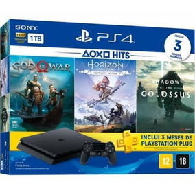 Ps4 Slim 1tb Hdr Playstation 4 +3 Jogos + Psn - Promoção!!