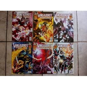 Vingadores E Invasores Em 6 Partes Da Panini.