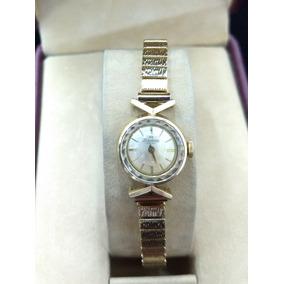 Reloj De Oro 14k Silvana Dama Vintage Dorado
