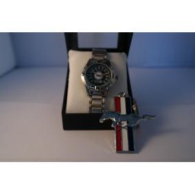 Reloj Mustang + Llavero Mustang Envio Gratis A Todo Mexico
