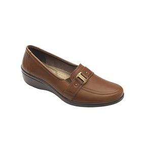 Calzado Dama Mujer Zapato Flexi Confort Piel Color Whiskey