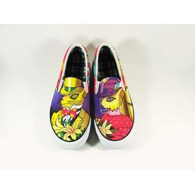 Zapatos Neko Anime Marca Collec Diseño Hecho A Mano