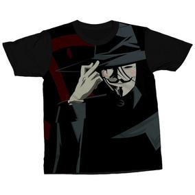 Camiseta V De Vingança Filme Alan Moore Camisa Blusa Estampa 1cb5845cd39