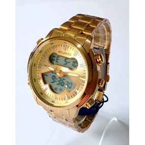 25969dbe1cb Relogio Ponteiro E Digital De Aco - Relógios no Mercado Livre Brasil