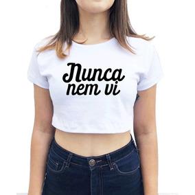 0ee123e9a Blusas Nunca Nem Vi Cropped Feminino - Camisetas e Blusas no Mercado ...