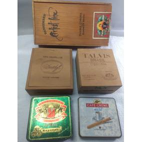 Caixas De Charutos Cigarrilhas Cigarros Antigas
