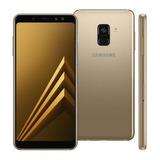 Samsung Galaxy A8+ 2018 A730f/ds 64gb Dourado Dual Lacrado
