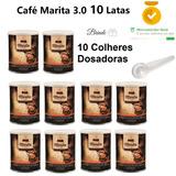 Cafe Marita 3.0 Kit 10 Latas Atacado Brinde 10 Colheres