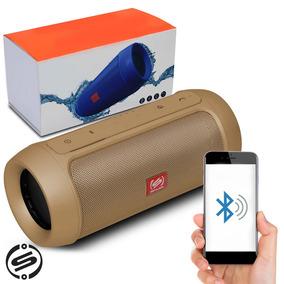 Caixa Som Bluetooth Charge 2+ Plus Mp3 Usb P2 Shutt Dourado