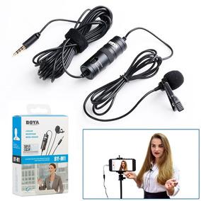 Microfone De Lapela Câmera Iphone Celular Cabo 9m Pc Note