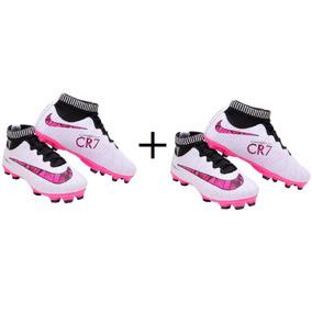 2c523a3e70782 Chuteira Cr7 Infantil Rosa - Chuteiras Nike no Mercado Livre Brasil