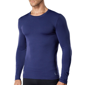 Camiseta Compressão Lupo Azul Solar Uv 50+ Segunda Pele e43dd6f670f45