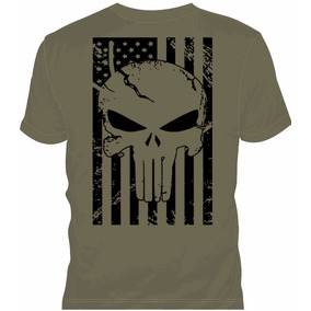Camiseta Punisher Bandeira Eua Tam. M