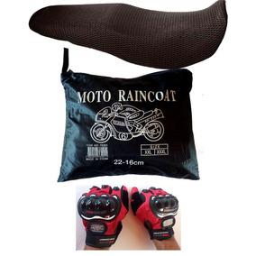 Kit Capa Chuva - Luva - Capa P Banco Moto Motoqueiro