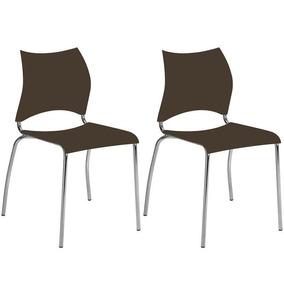 Conjunto De 2 Cadeiras Polipropileno 357 Carraro