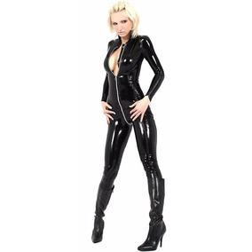 Catsuit Bodysuit Latex Cuerpo Completo Con Mangas Zipper