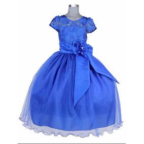 Vestidos de nina en color azul rey
