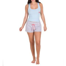 Pijama Tops Bottoms Short Dama Sin Manga Estrellas