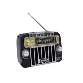 Caixa De Som Ewtto Radio Vintage Bluetooth Am Fm Et-2627b