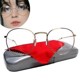 Armação Thin Redonda Metal Round Óculos Unisex Hipster Retrô