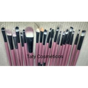 Kit Pinceis Maquiagem Profissional Com 20 Peças Pincel f8f7f7183f
