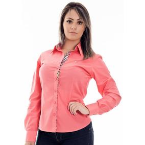 935c1689af Camisa Social Vermelha Feminina - Camisa Social Manga Longa Feminino ...