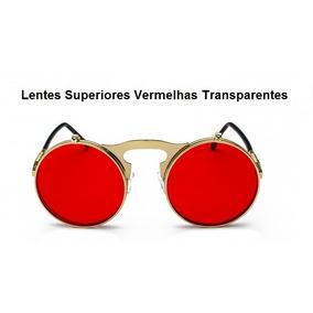 a0af95d71 Oculos Redondo Vermelho Vintage Estilo - Óculos no Mercado Livre Brasil