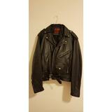 Jacket Tipo Biker ,cuero Negro