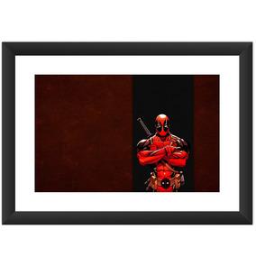 Quadro Deadpool Desenhos Filmes Herois Marvel Dc Comic 45x60