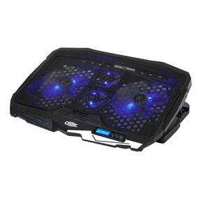 Base Cooler Suporte Para Notebook 17 Gamer Led 4 Coolers