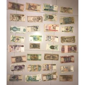 92 Cédulas De Notas De Dinheiro Antigo Do Brasil E Outros