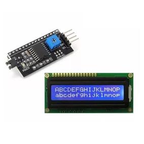 Display Lcd 16x2 1602 Com Back Azul + Modulo I2c Pic Arduino