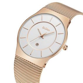 Elegante Reloj Moda Casual Hombre Biden Correa Malla Inglesa